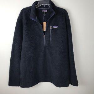 Patagonia | Retro Pile Pullover Fleece Navy Blue